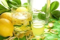 Liquore del limone Fotografie Stock