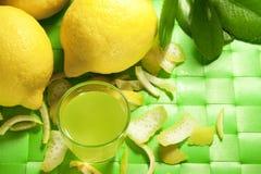 Liquore del limone Fotografie Stock Libere da Diritti