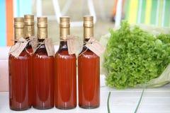 Liquore del mirtillo rosso fotografia stock