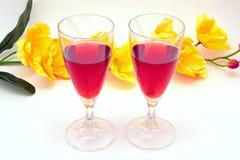 Liquore della fragola Fotografie Stock
