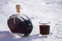 Liquore della noce immagine stock libera da diritti