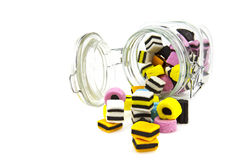 Liquorice allsort sweets Royalty Free Stock Images