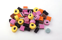 Liquorice allsorts Stock Photography