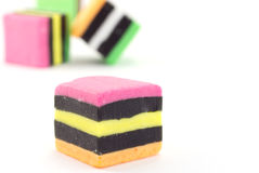 Liquorice allsorts. Royalty Free Stock Images