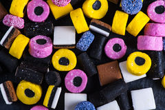 Liquorice candy vibrant background Royalty Free Stock Photography