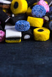 Liquorice candy vibrant background Royalty Free Stock Photo