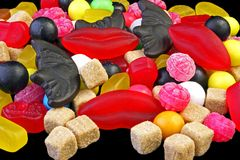 Liquorice from Holland. Sweet liquorice from the Netherlands Royalty Free Stock Photography