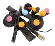 Liquorice Novelty Candy Stock Photo
