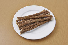 Liquorice Root Organic Sticks Stock Images