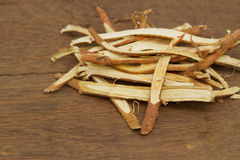 Liquorice root, used in chinese herbal Royalty Free Stock Images