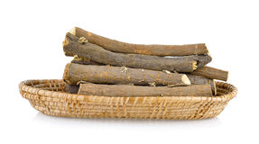 Liquorice roots in basket Royalty Free Stock Images