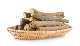 Liquorice roots in basket Royalty Free Stock Photos