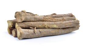 Liquorice roots isolated on white background Stock Image