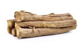 Liquorice roots isolated on white background Stock Photo