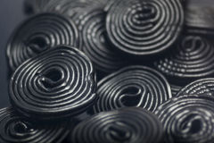 Liquorice snails Royalty Free Stock Images