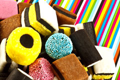 Liquorice sweets Stock Photos