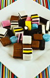 Liquorice sweets Stock Images