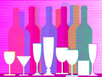 Liquors and wine Royalty Free Stock Photo