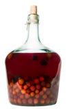 Liquur bottle. Liquor bottle isolated in white Stock Photo