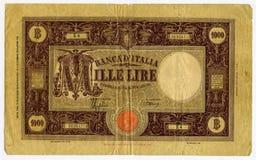 Lira 1000 do vintage Imagens de Stock
