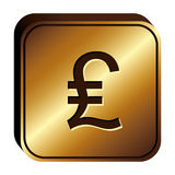 Lira currency symbol icon Royalty Free Stock Images