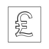 Lira currency symbol icon Royalty Free Stock Photos