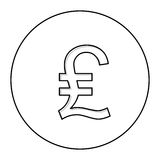 Lira currency symbol icon Stock Photos