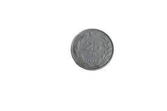 Lira 25 della moneta Fotografie Stock