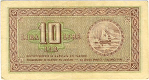 lira för 10 bill Arkivbilder