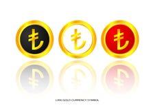 Lira gold symbol Stock Photo