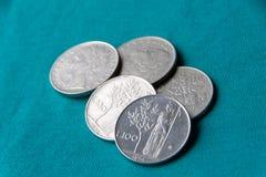 Lira, la vieja moneda italiana Fotografía de archivo libre de regalías