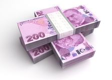 Lira turca Imagens de Stock Royalty Free