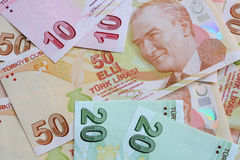 Lira turca Imagen de archivo