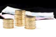 Lira turca della moneta Immagini Stock Libere da Diritti