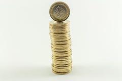 Lira turca - dinheiro do ferro 1 TL Imagens de Stock Royalty Free