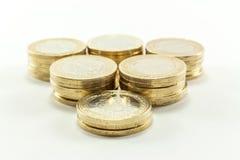 Lira turca - dinheiro do ferro 1 TL Fotografia de Stock Royalty Free