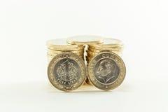 Lira turca - dinheiro do ferro 1 TL Fotos de Stock