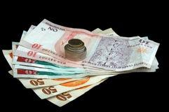 Lira turca - notas e moedas Imagem de Stock