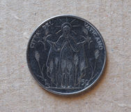 50 liras coin from Vatican Stock Photo