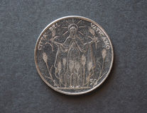 50 liras coin from Vatican Royalty Free Stock Photography