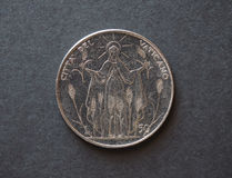 50 liras coin from Vatican Stock Photos
