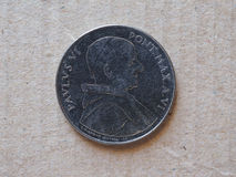 50 liras coin from Vatican Stock Image