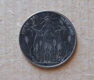 50 liras de moeda do Vaticano Foto de Stock