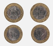 1000 liras italianas de moneda Imagen de archivo