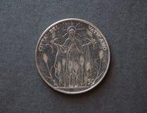 50 liras mynt från Vaticanen Arkivfoton