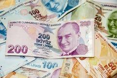 Liras turcas Imágenes de archivo libres de regalías