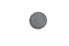 Lire 25 de pièce de monnaie Photos stock