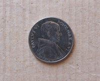 50 Lire di moneta dal Vaticano Fotografia Stock