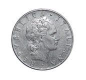 50 Lire di moneta Italia fotografia stock libera da diritti