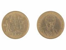 200 Lire italiane di moneta Fotografia Stock